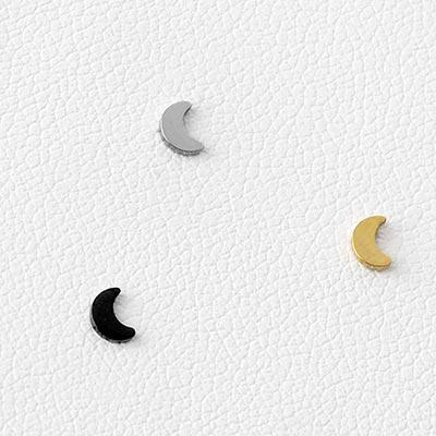 Titanium Crescent Moon Threadless End