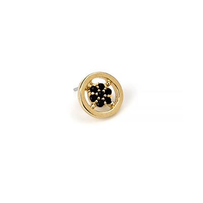 14k Gemmed Gemmed Circle Threadless End