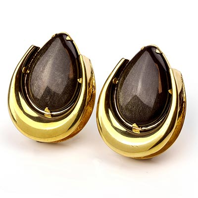 Brass Saddles with Golden Obsidian