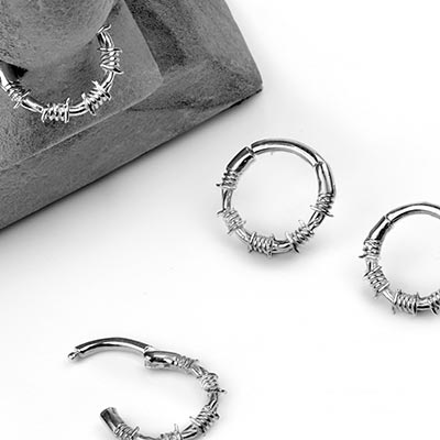 Barbed Wire Septum Clicker Ring