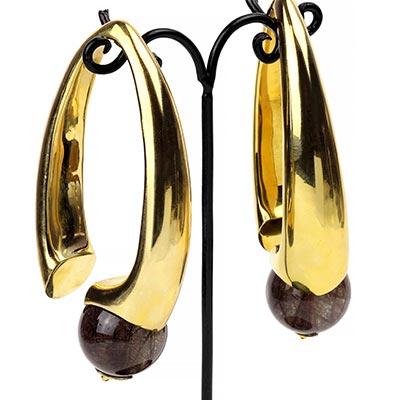 Brass Nova Design with Bronze Rutilated Quartz