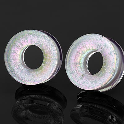Glass Fused Dichroic Eyelet - Opal