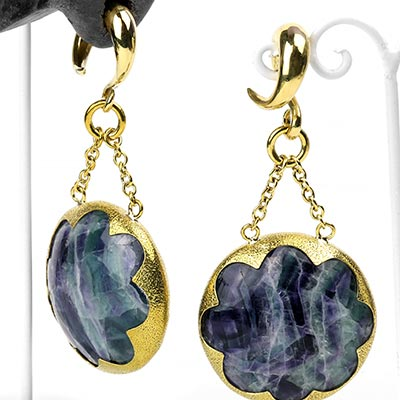 Solid Brass and Fluorite Cushion Weights