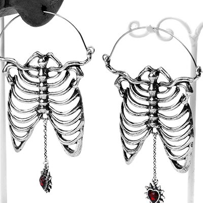 Steel Ribcage Earrings