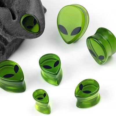 Glass Alien Plugs