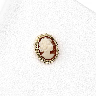 14k Gold Oval Threadless End with Cameo