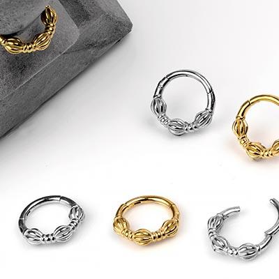 Steel Bali Clicker Ring