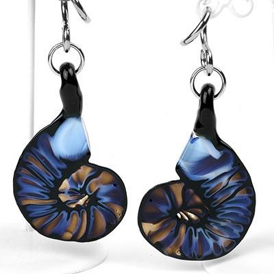 Glass Ammonite Weights - Sky Blue