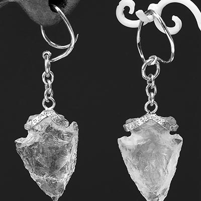 Sterling Silver and Quartz Arrowhead Weights
