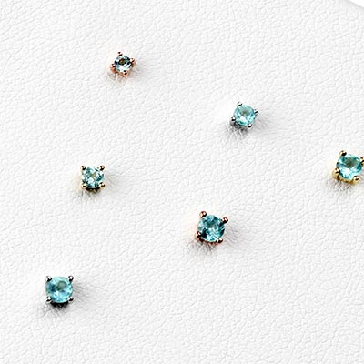 Solid 14k Gold Prong Set Apatite Threadless End