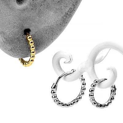 Beaded Huggie Earring