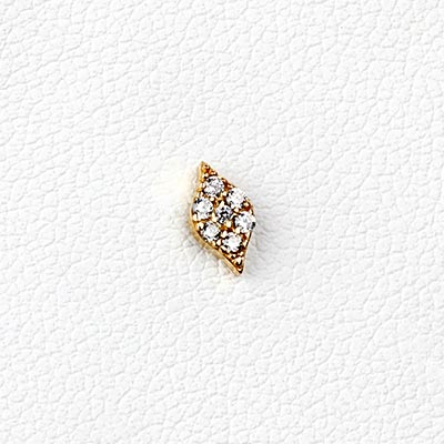 14K Gold Gemmed Marquise Threadless End