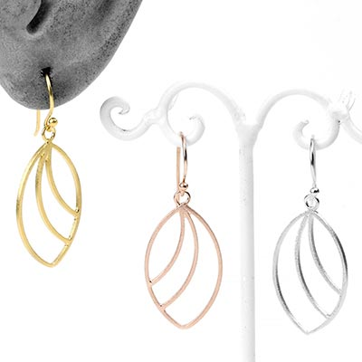 Silver and Gold Plated Ellipse Earrings