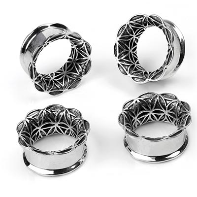Silver Seed of Life Eyelets