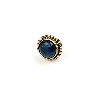 14k Gold Threadless End with Apatite