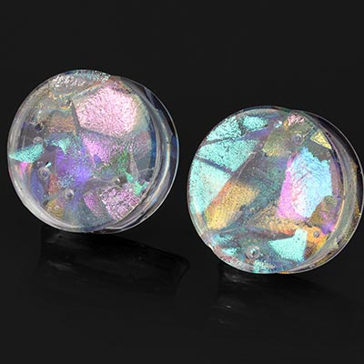 Mixed Dichroic Glass Plugs