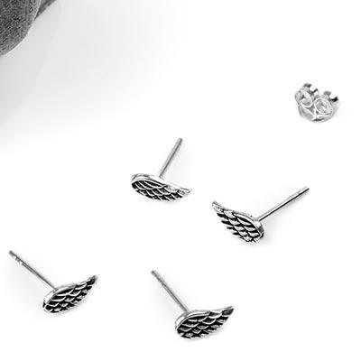 Silver Wing Earrings