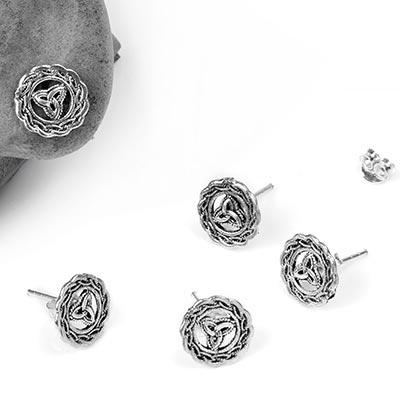 Silver Celtic Stud Earrings