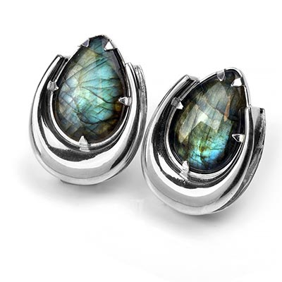 Sterling Silvers Saddles with Labradorite