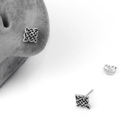 Silver Celtic Knot Stud Earrings
