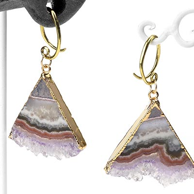 Brass and Gold Dipped Triangle Stalactites