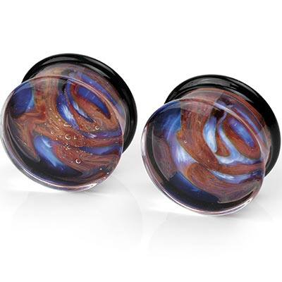 Pyrex Glass Opaline Plugs (Boulder Opal)