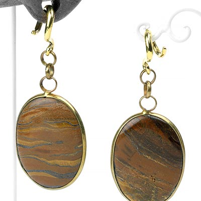Brass and Tiger Eye Weights