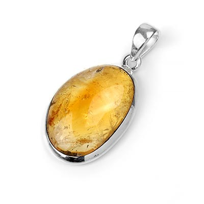 Silver and Citrine Pendant