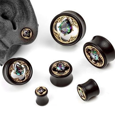 Arang Wood Crown Jewel Plugs