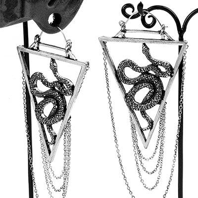 Steel Serpent Earrings