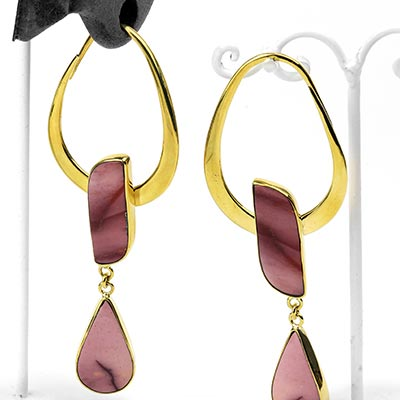 Solid Brass India Design with Mookaite