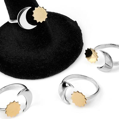 Adjustable Sun and Moon Ring