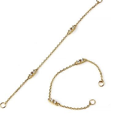14K Gold Chain With Gems