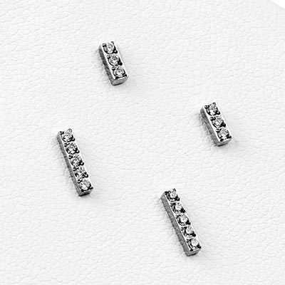 Titanium Gem-Set Threadless Bar End