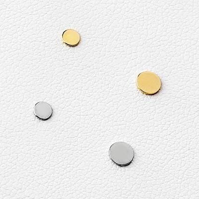 14K Gold Threadless Disc End