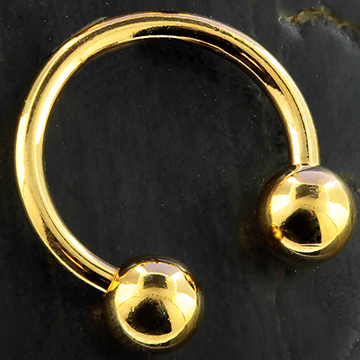 Gold Colored Circular Barbell