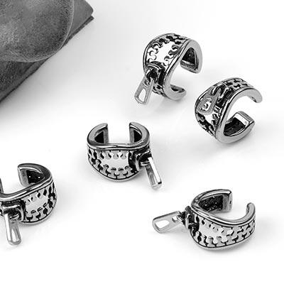 Steel Zipper Ear Cuff