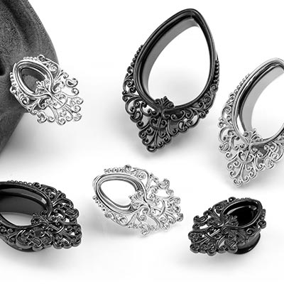 Steel Teardrop Filigree Eyelets