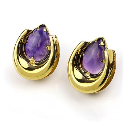 Brass Saddles with Amethyst