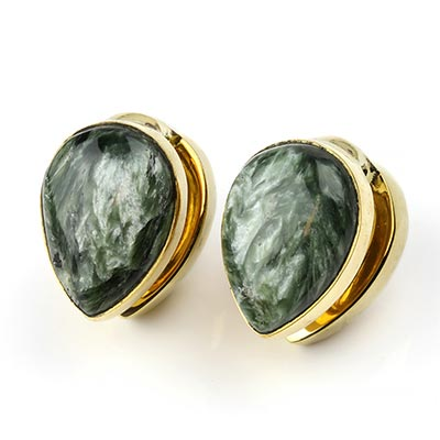 Solid Brass Spade Weights with Seraphinite