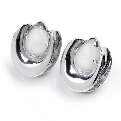 Sterling Silver Saddles with Moonstone