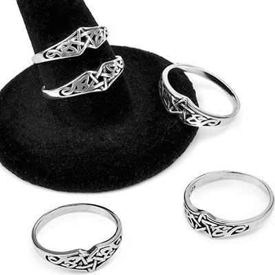 Silver Celtic Pentagram Ring