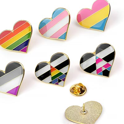 Prideful Heart Pins