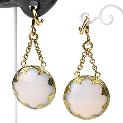 Solid Brass and Opalite Cushion Weights