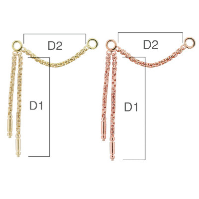 PRE-ORDER 14K Gold Meander III Chains