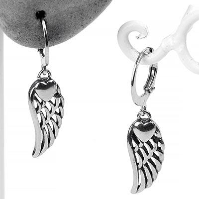 Dangling Feather Huggie Earrings