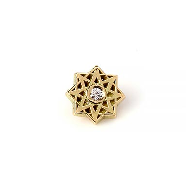 14K Gold Estrella Internally Threaded End