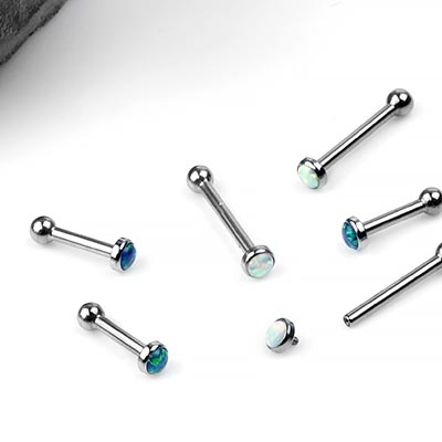 Titanium and Synthetic Opal Barbell