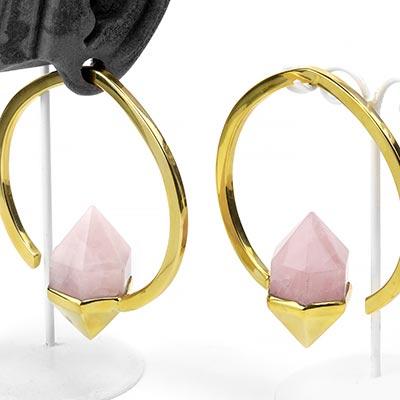Brass Mystic Weights with Rose Quartz