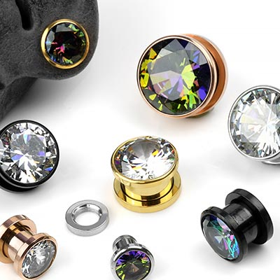 Gem Screw Back Plugs